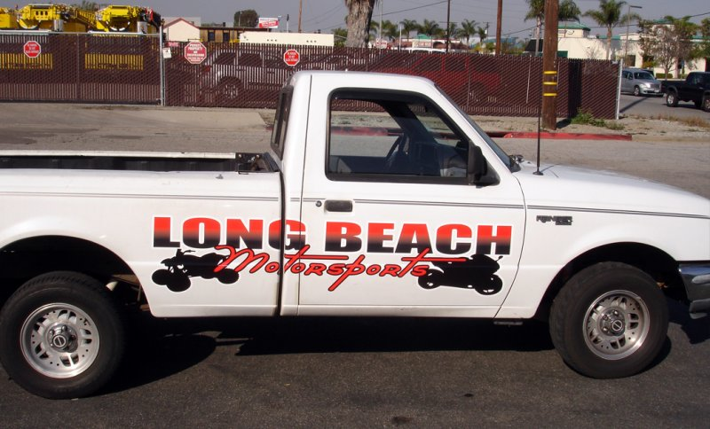 Long beach motorsports truck wrap 10 designs for Long beach motor sports